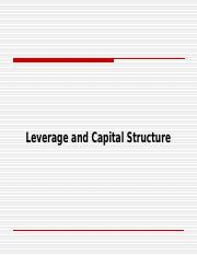 Leverage and Capital Structure.ppt