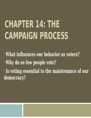 6. Chapter 14-The Campaign Process
