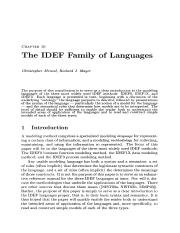 IDEF Family of Methods(1)