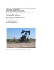 Economic Impacct of Oil and Gas in New Mexico