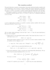 Lecture Notes on the Transformer Method