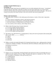 Psych110 Exam3 Sample exam items