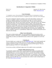 Syllabus-POLS2113-Intro to Comparative Politics-Fall2013