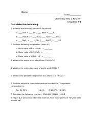 Test 2 - Chapters 3-4 (Problem Review)