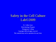 bt 117 lab Safety in the Cell Culture Lab©2009