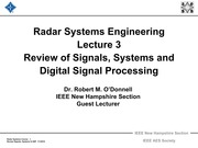 Radar 2009 A _3 Review of Signals, Systems, and DSP