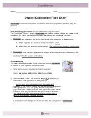 Student exploration food chain answer key pdf. 😝 Food ...