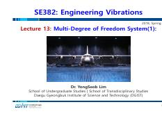 Lecture 13_Multi-Degree of Freedom System(1)-Introduction_180430.pdf