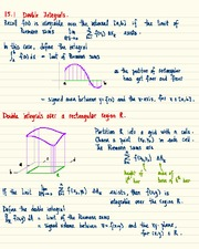 MATH 1823 Double Integrals Notes