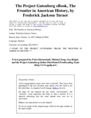 The Project Gutenberg eBook of The Frontier in American History, by Frederick Jackson Turner.pdf