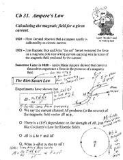 Ch 31  Amperes Law Annotated  Notes
