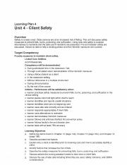 Unit Four - Client Safety (Part One).pdf