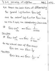 Derivative of Logarithms