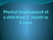 Physical Development of a child