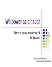 Willpower as a habit!.ppt