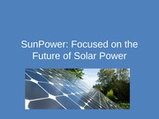 Lecture 15; Sunpower Simulation