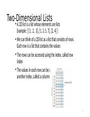 Two-Dimensional Lists.pptx