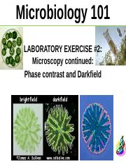 S16 Lab 2 Introduction to Phase Microscopy