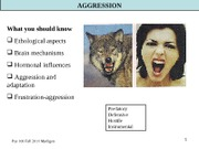 Arousal, Emotion, Aggression-Fall-2011