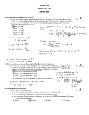 Answers HW-7  MATH2300-18Spring2011