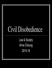 Civil Disobedience Lecture (class)