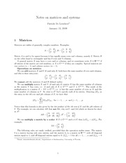 notes-matrices