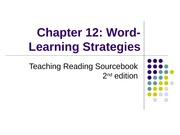 TRS Ch 12_Vocabulary_Word Learning Strategies