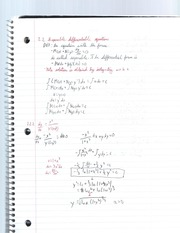 Seperable differential equations notes