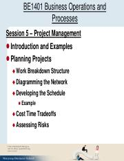 Session 5 Project Management