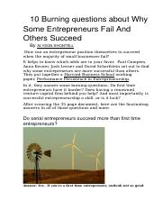 How can an entrepreneur position themselves to succeed when the majority of small businesses fail.do
