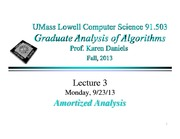Lecture Notes B on Analysis of Algorithms