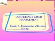 Chapter 8-Fundamentals of Decision Making