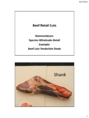 Beef Wholesale Retail Cuts