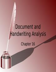 Chapter 16- Document and Handwriting Analysis (1)