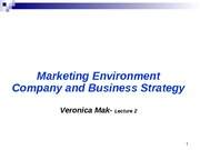 Ch2, 3 Marketing Strategy and environment