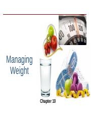 PH CH 10 _ 11, Weight, Fitness.ppt
