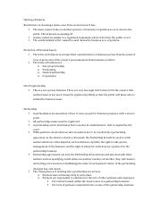 Chapter 9 - The Organization of a Business - Study Sheet.docx