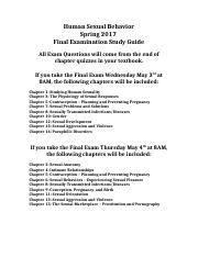 sex - Final Exam Fall 2016 Study Guide-1.docx