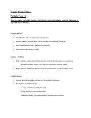 Chapter 8 Lecture Notes - Portfolio Theory II