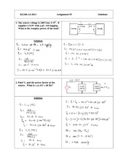 EE 240 Assignment  (9) Solution