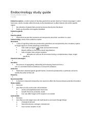 Endocrinology study guide