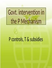 9 - Govt intervention in the P mechanism