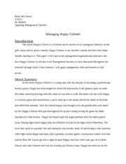 Management paper happy gilmore