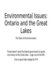Great Lakes State of the Environment.ppt