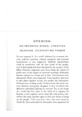WEEK 7 READING 01. Castells - Networking minds, creating meaning, contesting power