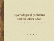 psychological+problems+and+the+older+adult