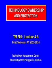 201-4-A_Technology Ownership & Protection_I-13-14 (rev).ppt