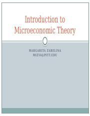 ECONOMICS       Microeconomic Theory   DU   Course Hero