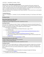 ACG3103-2 Week 6 Assignments & Notes