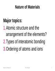 Topic2_Nature of Materials